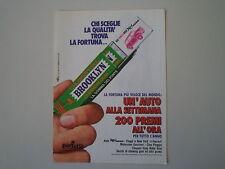 advertising Pubblicità 1973 BROOKLYN CHEWING GUM GOMME  PERFETTI