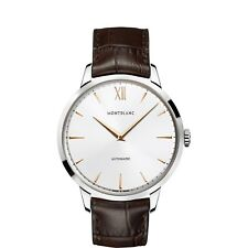 WATCH MONTBLANC HERITAGE SPIRIT AUTOMATIC 110695 GENTS BROWN LEATHER SWISS