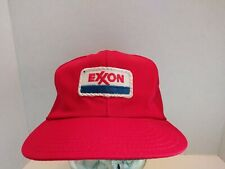 Vintage Exxon Trucker Hat Snapback Cap Embroidered Patch Unitog Made In Usa