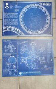 Stargate SG-1 & Atlantis schematic blueprint A3 artprint posters