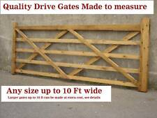Five bar wooden drive quality gate 10ft or made to measure