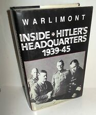 BOOK WW2 Inside Hitler's Headquarters 1939-45 by Gen W Warlimont Deputy COO OKW