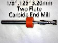 "1/8"" Two Flute Carbide End Mill with 1/8"" Shank   BRAND NEW   One Piece CNC M116"