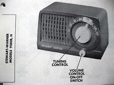 STEWART WARNER 9180-B & 9180-H RADIO PHOTOFACT
