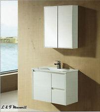 Ultra Slim Wall Hung Vanity with ceramic basin and polyurethane door 750