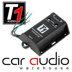 Car Stereo Amp Amplifer High to Low Level Adjustable Speaker Line Out Converter
