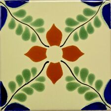 Hojitas Verdes (Green Leaves) Talavera Tile