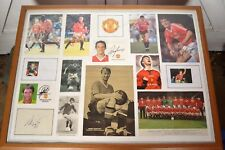 ONE OF A KIND FRAMED 'OLD TRAFFORD STARS' SIGNATURES OF MANCHESTER UNITED HEROS