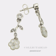Authentic Pandora Silver Luminous Florals CZ Earrings 290699MOP