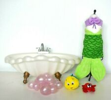 Disney Princess Little Mermaid Animator Ariel Doll Luxury Bath Time Play Set