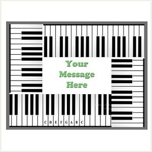 Piano Keys Keyboard Edible Image personalised icing cake topper party decoration