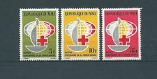 MALI - 1963 YT 54 à 56 CROIX ROUGE - TIMBRES NEUFS* légère trace de charnière