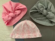 Lot of 3 Baby Girl Turban/Beanie Hats