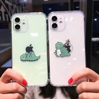Cute Cartoon Creative Dinosaur Phone Case Soft Cover For iPhone 12 11 X XS XR SE