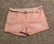 New Womens LC Lauren Conrad Roll Cuff Jean Shorts 10//12//14 Terra Cotta