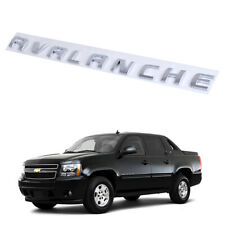 Chrome 3D AVALANCHE Letters LH/RH Door Tailgate Emblem for Chevrolet Avalanche