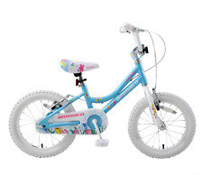 "Orchid 16"" Wheel Girls Childs Childrens Lightweight Alloy Bike Blue White Age 5+"