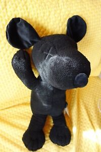 UNIQLO KAWS × PEANUTS Black SNOOPY Plush Size S Small Plush Brand New With Tag