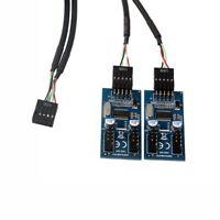 PC Case Internal 9-Pin USB 2.0 Male 1 To 4 Female Splitter PCB Chipset Extender