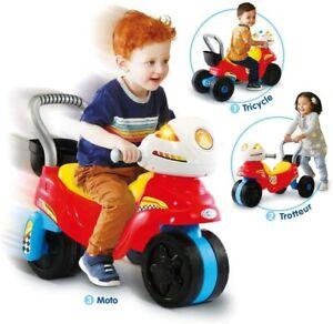 Porteur Tricycle Moto Enfant Evolutif Son Lumiere Francais Apprentissage Jeux