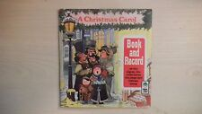 Peter Pan Book and Record A CHRISTMAS CAROL 45rpm 1977