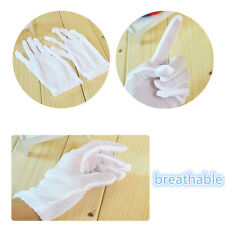 12 Pairs White Budget Cotton Gloves Moisturising Lining Gloves For Health Work