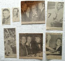 Mickey Mantle newspaper clippings (7 clipped photos)