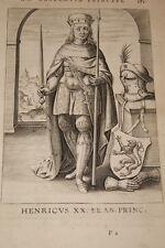 GRAVURE BELGIQUE HENRICUS BRABANT VEEN COLLAERT 1623 OLD PRINT R985