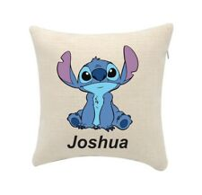 Stitch cushion cover. can be personalised with any name (cover only) 20cmx20cm