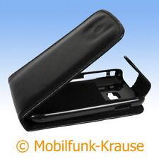 Flip Case Etui Handytasche Tasche Hülle f. Samsung GT-S5380 / S5380 (Schwarz)