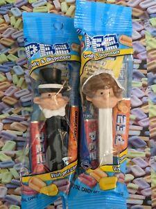 PEZ -Brown hair Bride & Groom- in Pkg- Retired