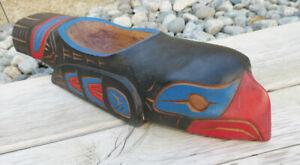 Northwest Coast Eagle Bowl Carved Cedar Bowl Native Artifact Canada Aboriginal