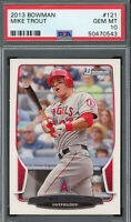 Mike Trout Los Angeles Angels 2013 Bowman Baseball Card #121 PSA 10 GEM MINT