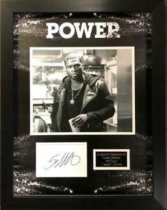 "50 CENT ""Curtis Jackson"" Signed Photo MOUNT DISPLAY POWER AFTAL COA"