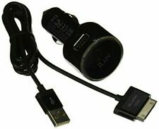iLuv USB Car Adapter with Charge/Sync Cable for Galaxy Tab (iAD572BLK)