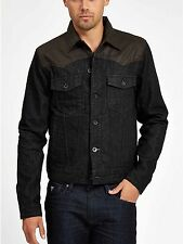$148 Guess Dillon Denim Jacket In Hitchhiker Wash Size XS