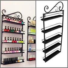 Nail Polish Shelf Wall Mount Rack stand Organizer Display Metal up to 50 Bottles