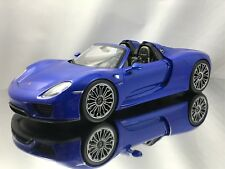 Welly Museum Porsche 918 Spyder Sapphire Blue Model Car 1:18
