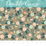 Flourish Floral Taupe Double Gauze Camelot 100% Cotton fabric by the yard