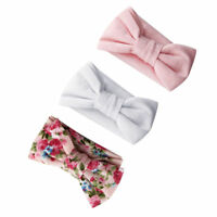 3X Newborn Baby hairband Hair Accessories Headband Ribbon Elastic Band Bow G6Z