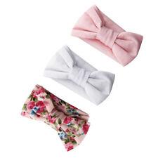3Pcs* Elastic Newborn Baby Girl Hairband Soft Headband Ribbon Band Bow 3Colors