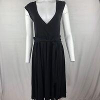 DKNY Women's Little Black Dress Size S/Small Sleeveless faux wrap NWT $275