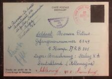 1940 Belgium Red Cross To Germany POW Camp Postcard Cover Stalag 10A
