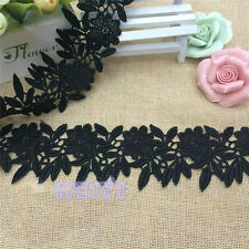 Wholesale 13yards/lot 6cm Black Embroidered Lace Edge Trim Ribbon Sewing Craft