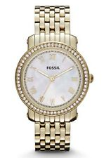 Fossil Watch * ES3113 Emma Midsize MOP Gold Steel Women COD PayPal #crzycod