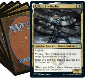 KILLIAN Commander Deck MTG White Black Magic the Gathering Lot with Rares