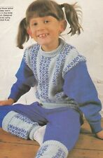 CHILD'S TRACK SUIT & LEG WARMERS PATTERN FOR MACHINE KNITTING