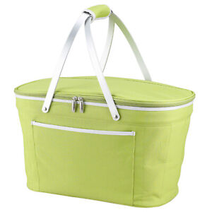 Picnic at Ascot Collapsible Insulated Picnic Basket with Zippered Lid (400)