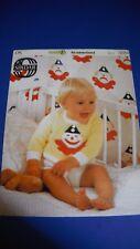 Sirdar Baby Sweater & Pants Knitting Pattern 3351