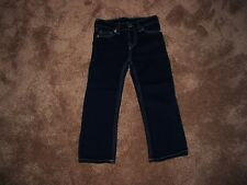 NWOT Boys Toddler 2T True Religion Straight Leg 5 Pkt Adj Waist Dark Denim